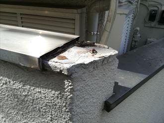 横浜市神奈川区|擁壁笠木の部分修理を行いました