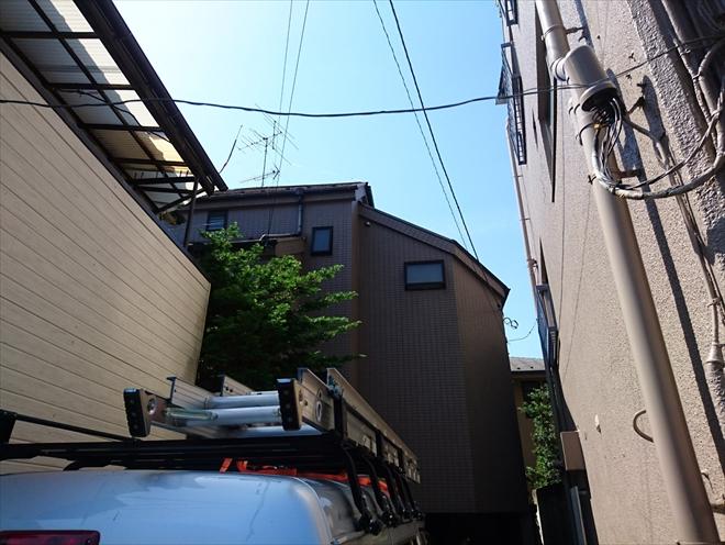 はずれていると指摘された棟板金の調査 横浜市旭区