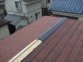 横浜市都筑区|風害による火災保険適用・板金工事の様子