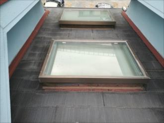 横浜市戸塚区|水漏れ発覚、トップライト撤去工事