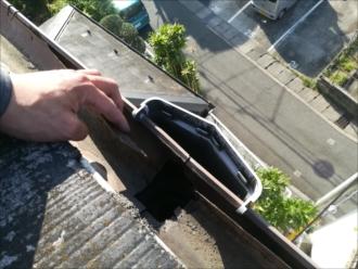 横浜市戸塚区|経年での劣化が原因で雨樋からの水漏れ