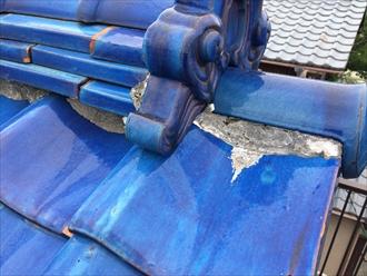瓦屋根の漆喰は定期的なメンテナンスが必要です|横浜市港北区