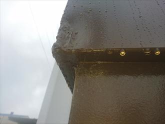 想定外の正面玄関上の破損|横浜市都筑区