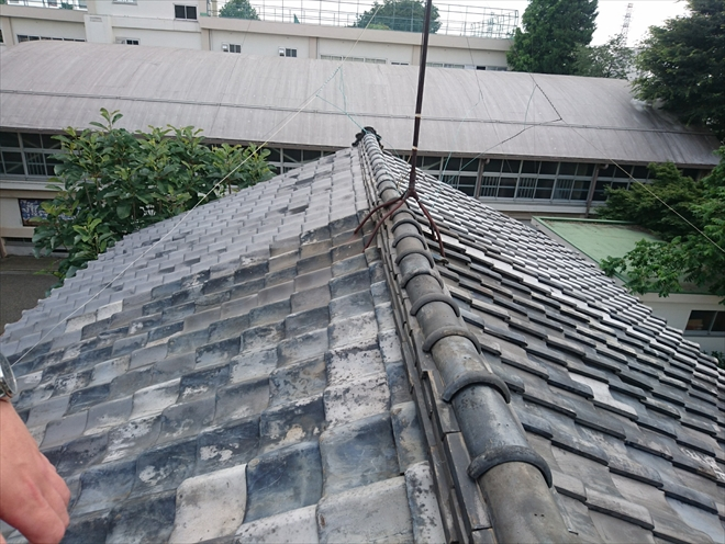 築年数30年の棟瓦の調査|横浜市旭区