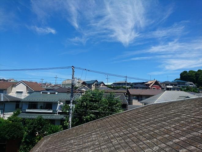 築35年経過したスレート屋根の状態|横浜市青葉区
