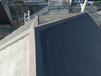 横浜市港北区|屋根塗装の為の点検調査・急勾配には屋根足場