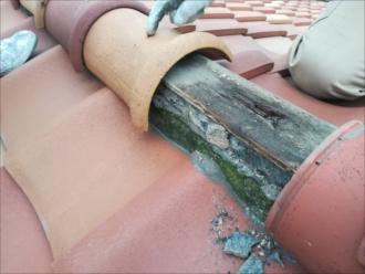 横浜市鶴見区|集合住宅の屋根瓦、棟取り直し工事調査