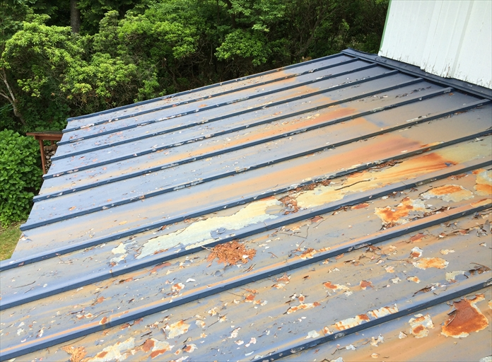 瓦棒葺き屋根の調査1