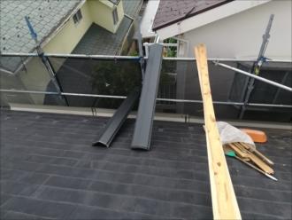 横浜市港北区|急勾配屋根、棟板金交換・屋根塗装工事