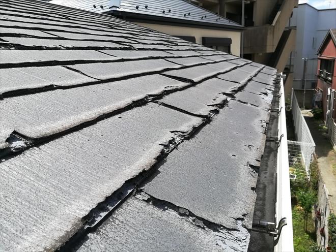 横浜市港北区|築12年での屋根材の劣化状況・ニチハ パミール