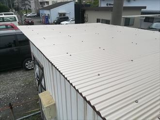 新規屋根の様子