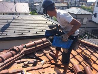 棟瓦取り直しは瓦屋根の定期的なメンテナンスとして必要|横浜市港北区