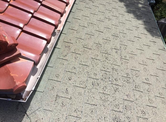 塩害によるアスファルトシングルの劣化|横浜市金沢区