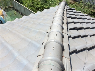 瓦屋根の歪みは屋根調査をすると分かります|横浜市戸塚区