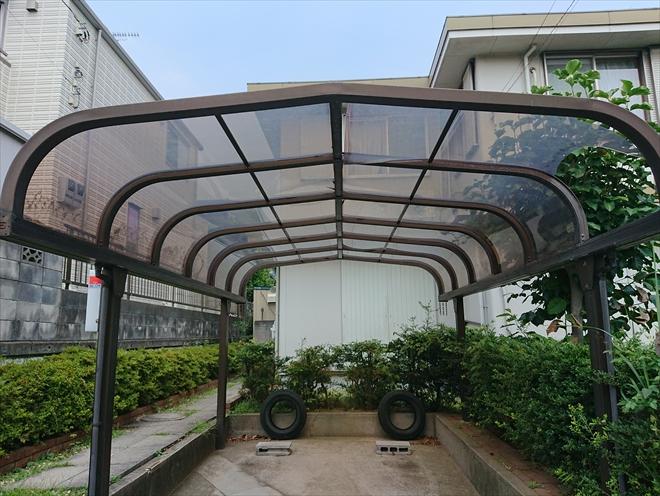 横浜市緑区で台風によりカーポートの屋根が破損、火災保険を使い補修のご提案
