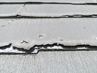 横浜市港北区の屋根工事、ニチハパミールの傷んだスレート材にも屋根カバー工事は行えます