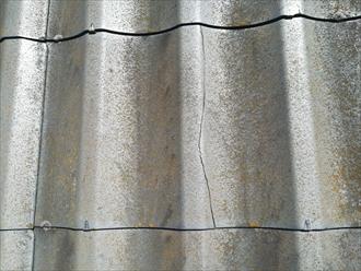 屋根材のひび