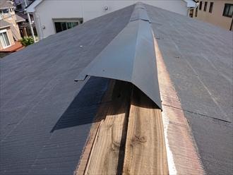 横浜市都筑区で屋根の棟板金が道路に落下、よくみたら自宅のものだったので調査を依頼