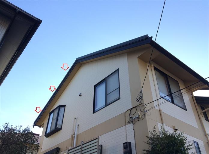 横浜市南区を襲った台風の猛威、ケラバ水切りが飛ばされた