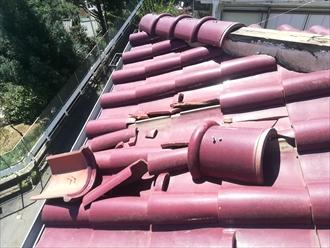 川崎市宮前区で台風による洋瓦の破損、屋根葺き替えのご提案