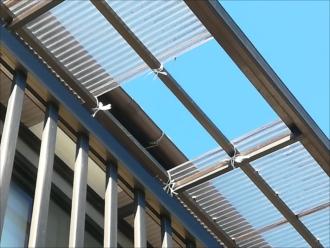 川崎市宮前区にてポリカーボネート波板の屋根調査