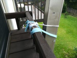 横浜市神奈川区にて台風によるアルミ製シームレス雨樋の破損調査