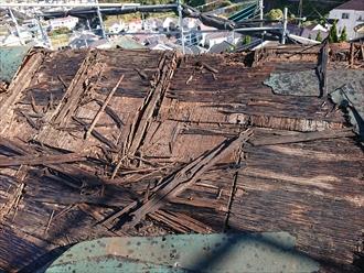屋根材撤去後