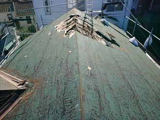屋根材撤去後 全体図