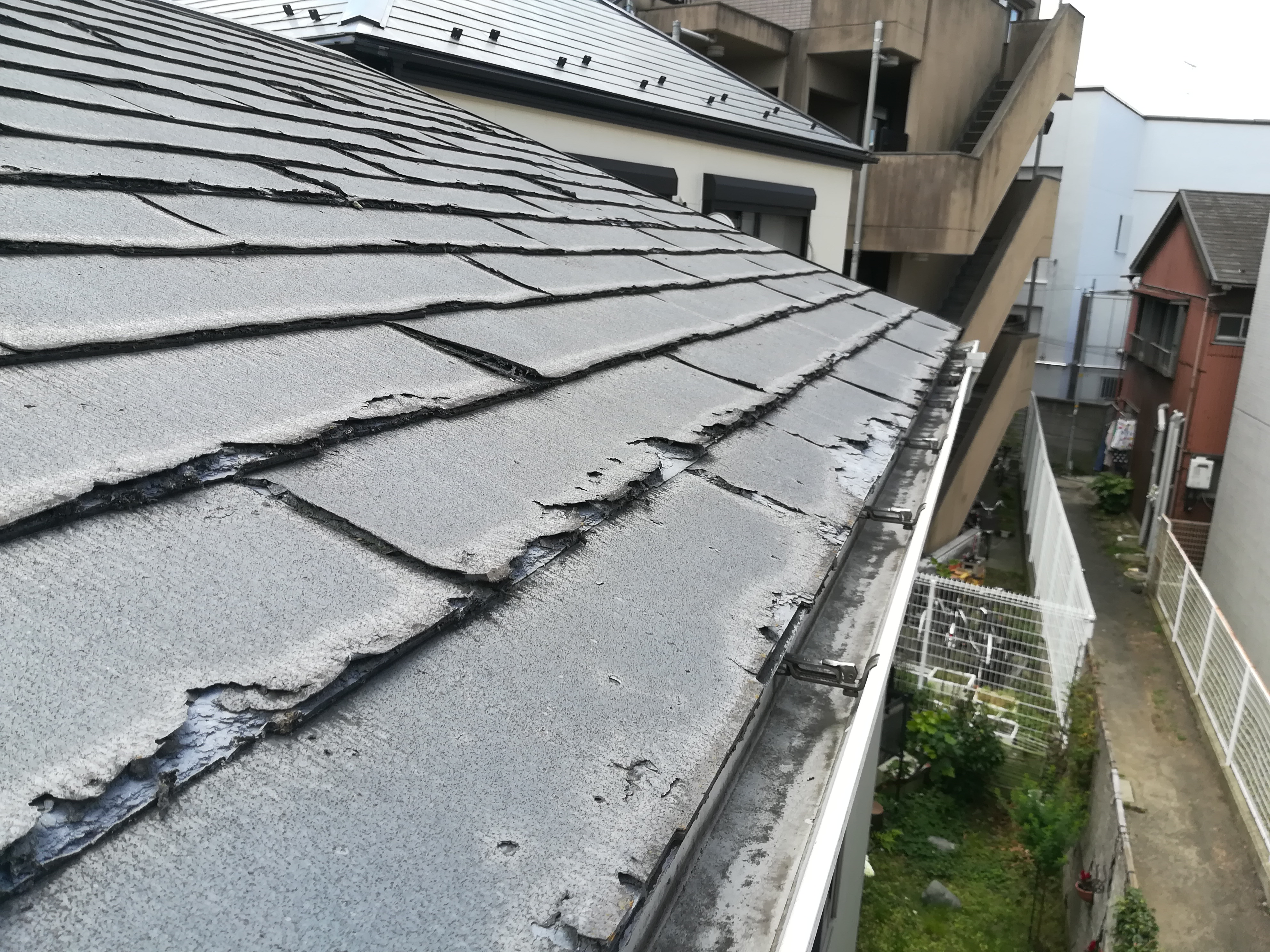 横浜市港北区にてニチハ・パミールの屋根材にガルバリウム鋼板でカバー工法