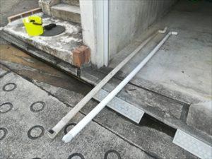 横浜市神奈川区で台風による雨樋の破損、部分交換でも足場の設置は必要です
