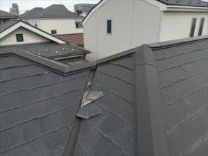 飛散してきた屋根材