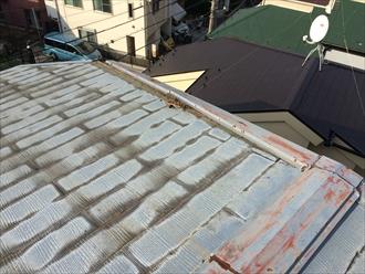 横浜市瀬谷区の屋根調査、風で野地板から剥がれた場合は屋根葺き替え工事3