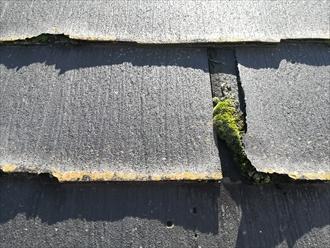 相模原市にて「屋根材が飛散した」とのご相談、原因はニチハのパミールの剥離でした