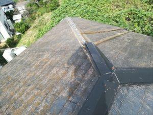 横浜市緑区鴨居にて強風で飛散した棟板金の部分交換を行いました