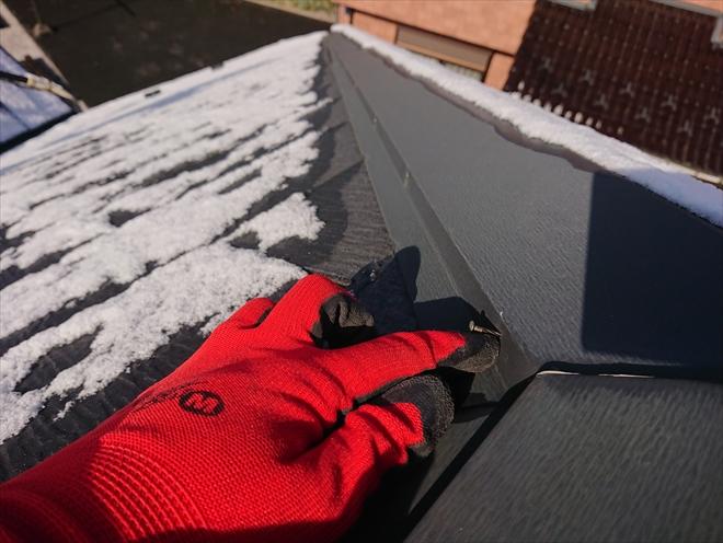 横浜市青葉区美しが丘にて棟板金の釘の浮きを指摘された為屋根の調査に伺いました
