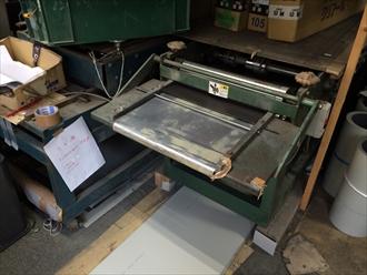 ガルバリウム鋼板を工場にて加工
