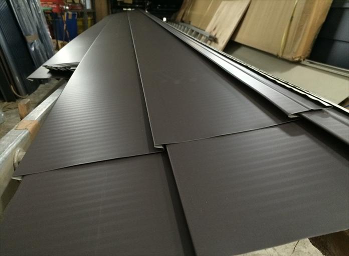 横葺き用屋根材製作