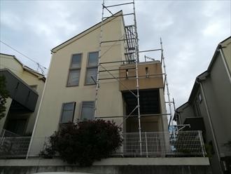 横浜市青葉区美しが丘西にて築7年の片流れ屋根の棟板金交換工事