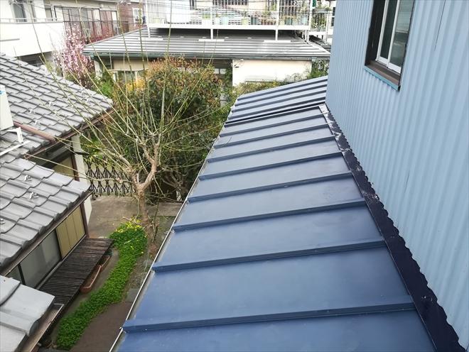 瓦棒葺き屋根改修工事完了
