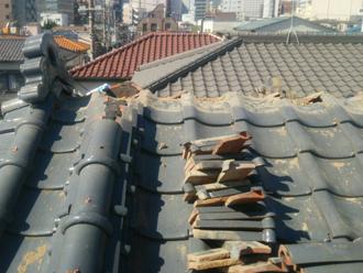 平塚市大原 棟取り直し工事 棟を解体