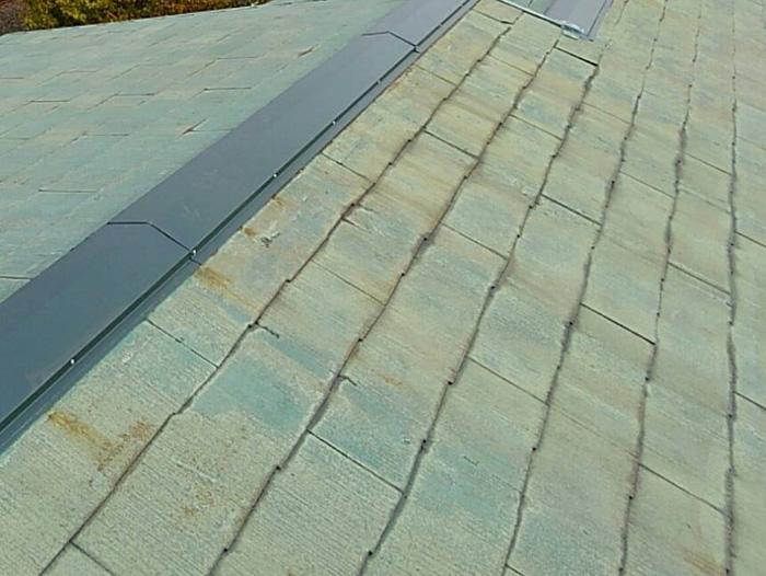 平塚市山下 棟板金交換 ガルバリウム鋼板の棟板金を設置