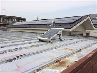 茅ヶ崎市菱沼で積水ハウスの金属屋根調査、塗膜が剥がれて錆が発生しておりました