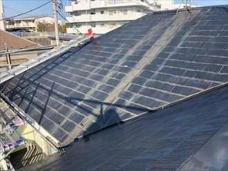 藤沢市大庭でコロニアル(スレート)からオークリッジスーパー(オニキスブラック)へ葺き替えました