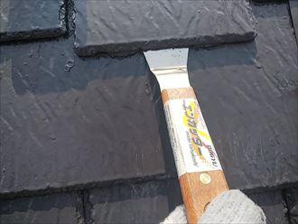 相模原市南区当麻で屋根塗装、アーバニーの縁切りを行います