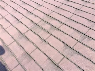一見何ともないスレート屋根ですが、この真下で雨漏りしている
