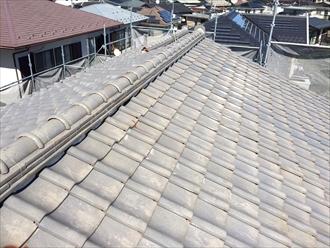 上から見た瓦屋根