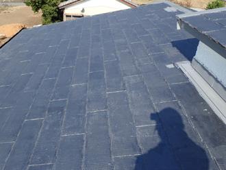 厚木市上荻野 屋根葺き替え工事前のスレート屋根