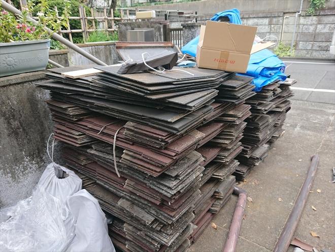 全ての屋根材がめくりおわるとこれだけの量になります