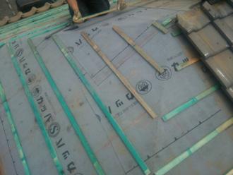 大和市深見 屋根葺き直し工事 防水紙交換