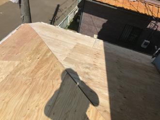 平塚市高浜台 屋根葺き替え工事 野地板設置